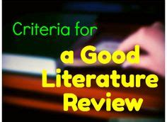 How to make a literature review table